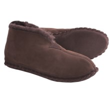 Acorn Sheep Bootie Slippers - Sheepskin (For Men) in Chocolate - Closeouts
