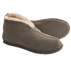 Acorn Sheep Bootie Slippers - Sheepskin (For Men) in Black