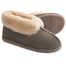 Acorn Sheep Ram Island Slippers - Sheepskin (For Men) in Olive - Closeouts