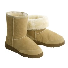 Acorn Sheepskin Aussie Boots - Short (For Women) in Tan - Closeouts