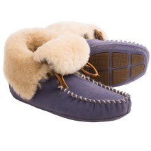 Acorn Sheepskin Moxie Boot Slippers (For Women) in Lilac - Closeouts