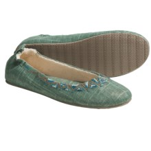Acorn Shimmer Ballet Slippers (For Women) in Seafoam - Closeouts