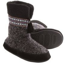 Acorn Snowline Boot Slippers - Wool-Blend (For Women) in Black - Closeouts