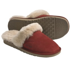 Acorn Spa Slip-Inn Slippers - Australian Sheepskin (For Women) in Red