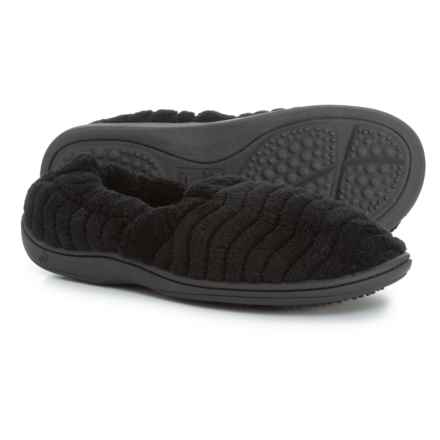 Acorn Spa Support Moccasin Slippers (For Women) in Black - Closeouts
