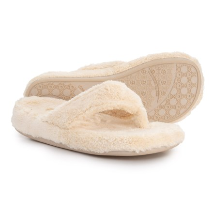 bd94c4e002b5 Acorn Spa Thong Slippers (For Women) in Buttercream - Closeouts