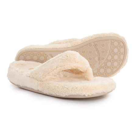 Acorn Spa Thong Slippers (For Women) in Buttercream - Closeouts