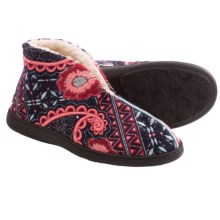 Acorn Talara Bootie Slippers - Boiled Wool (For Women) in Navy Paisley - Closeouts
