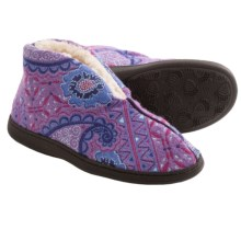 Acorn Talara Bootie Slippers - Boiled Wool (For Women) in Purple Paisley - Closeouts