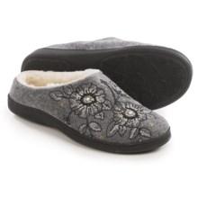 Acorn Talara Mule Slippers - Boiled Wool, Berber Fleece Lined (For Women) in Smoke - Closeouts