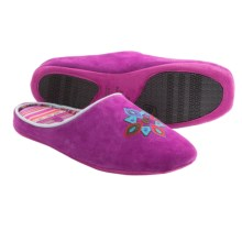 Acorn Talia Suede Slippers (For Women) in Fuchsia - Closeouts