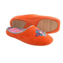 Acorn Talia Suede Slippers (For Women) in Tangerine - Closeouts