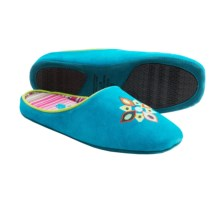 Acorn Talia Suede Slippers (For Women) in Turquoise - Closeouts