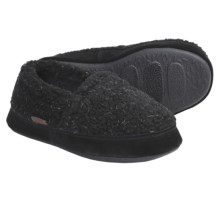 Acorn Tex Moc Slippers - Berber Fleece (For Boys) in Black Berber - Closeouts