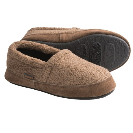 Acorn Tex Moc Slippers - Berber Fleece (For Boys)