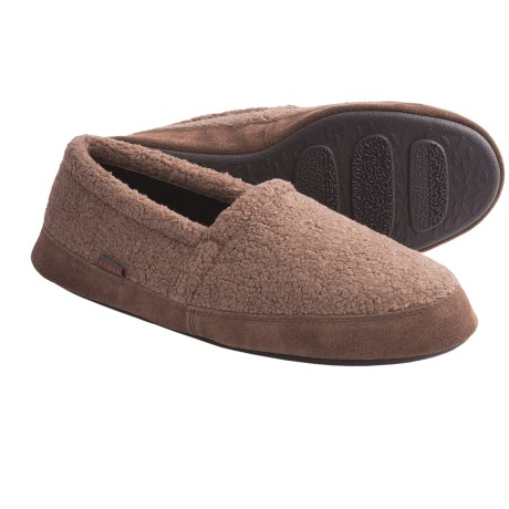 Acorn Tex Moc Slippers - Berber Fleece (For Men) in Mushroom