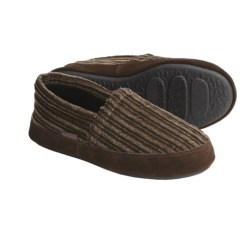 Acorn Tex Moc Slippers - Corduroy (For Boys) in Brindle
