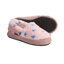 Acorn Tex Moc Slippers (For Girls) in Pink Stars - Closeouts