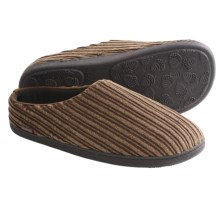 Acorn Tex Mule Slippers - Corduroy (For Men) in Brindle - Closeouts