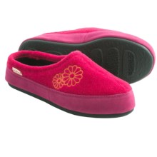 Acorn Textured Embroidered Scuff Slippers (For Women) in Hot Pink - Closeouts
