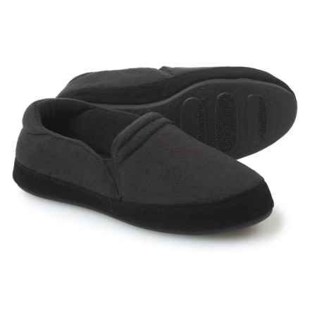Acorn Twin Gore Moccasin Slippers - Suede (For Men) in Black - Closeouts