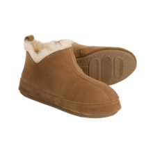 Acorn V-Neck Booties - Sheepskin (For Women) in Walnut - Closeouts