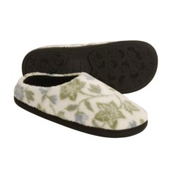 Acorn Velvet Mule Slippers - Slip-Ons (For Women) in Pink Stars