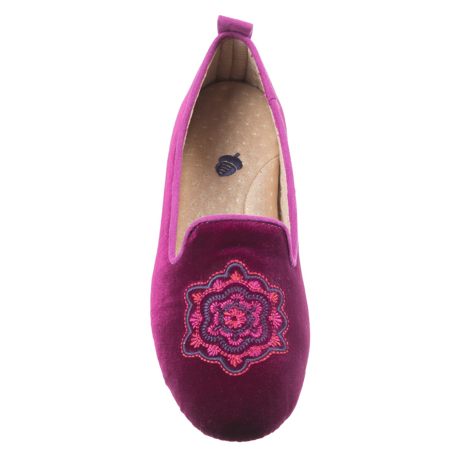 Acorn Velvet Smoking Slippers For Women