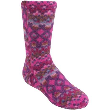Acorn Versa Fit Fleece Socks - Crew (For Kids) in Magenta Cable