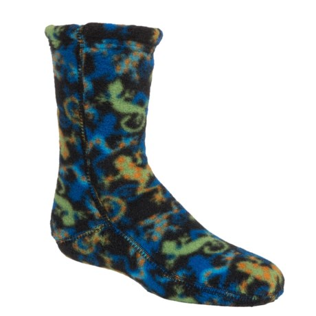 Acorn Versa Fit Fleece Socks - Crew (For Little and Big Kids) in Leaping Lizard