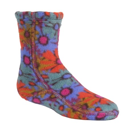 Acorn Versa Fit Fleece Socks - Crew (For Little and Big Kids) in Retro Daisy