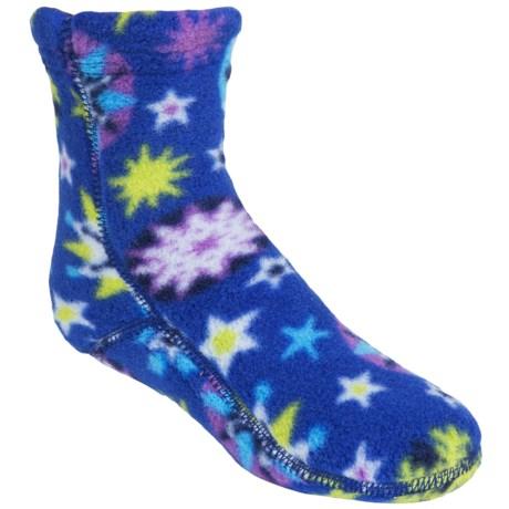 Acorn Versa Fit Fleece Socks - Crew (For Little and Big Kids) in Snowflake Royal