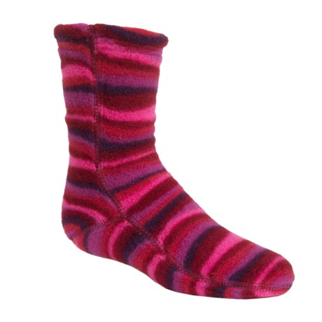 Acorn Versa Fit Fleece Socks - Crew (For Little and Big Kids) in Wavy Fuchsia