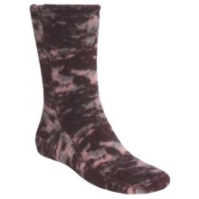 Acorn Versa Fit Fleece Socks (For Men and Women) in Katahdin Camo Wine - Closeouts
