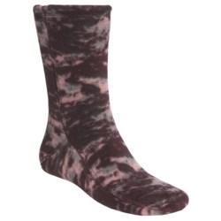 Acorn Versa Fit Fleece Socks (For Men and Women) in Rose Heather