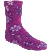 Acorn Versa Fit Tread Fleece Socks - Crew (For Little and Big Kids) in Snowflower Purple - Closeouts