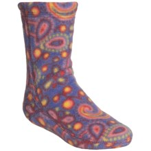 Acorn Versa Polartec® Fleece Socks (For Kids) in Rainbow Paisley - Closeouts