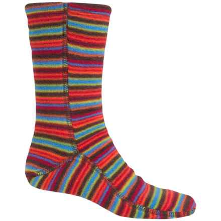 Acorn Versa Socks - Fleece, Crew (For Women) in Fun Stripe Chocolate - Closeouts