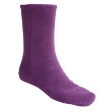 Acorn Versa Socks - Fleece, Crew (For Women) in Plum - Closeouts