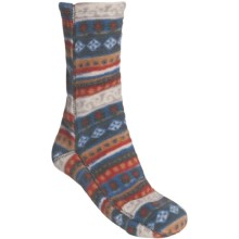 Acorn Versa Socks - Fleece (For Women) in Natural Carousel - Closeouts