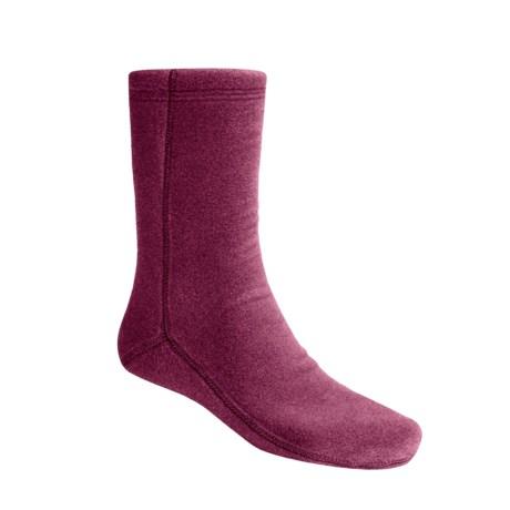Acorn Versa Socks - Fleece (For Women) in Wine