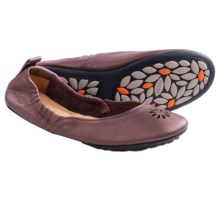 Acorn Via Leather Ballet Shoes - Flats (For Women) in Plum Metallic - Closeouts