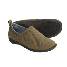 Acorn Via Moc Slippers - Insulated (For Women) in Olive - Closeouts