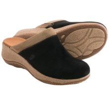 Acorn Vista Clogs - Suede, Wedge Heel (For Women) in Black - Closeouts