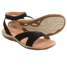 Acorn Vista Sweep Sandals - Suede (For Women) in Black - Closeouts