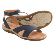 Acorn Vista Sweep Sandals - Suede (For Women) in Navy - Closeouts