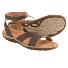 Acorn Vista Sweep Sandals - Suede (For Women) in Pewter - Closeouts