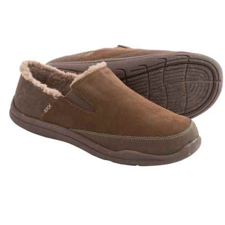 Acorn Wear About Suede Slippers - Fleece Lined (For Men) in Chocolate Suede - Closeouts