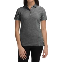 Active Contrast-Seam Polo Shirt - UPF 50+, Short Sleeve (For Women) in Charcoal - 2nds