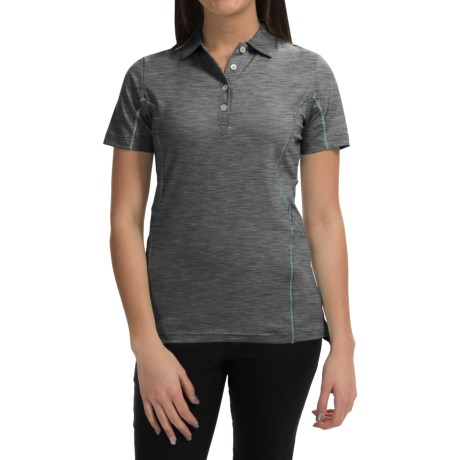 Active Contrast Seam Polo Shirt UPF 50+, Short Sleeve (For Women)